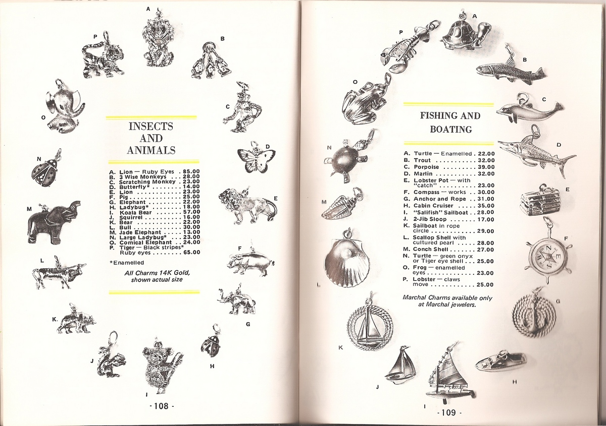 Vintage Charm Catalog Insects Animals Fishing and Boating
