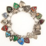This is a truly drool-worthy bracelet of enamel puffy hearts