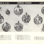 heavy gold disk jeweled charms