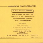 The end of the American Charm Corp Catalog