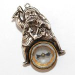 Victorian Nautical Thor With Hammer Silver Compass Fob